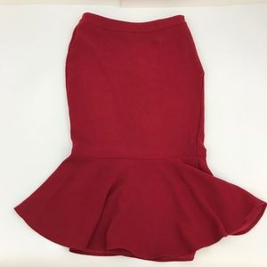 Who What Wear Red Fishtail Midi Skirt*